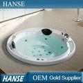 الأكثر مبيعا الجنس hs-bc664 تدليك حوض الحمام/ بانيو يدرج/ أبعاد جولة حوض الاستحمام لشخصين