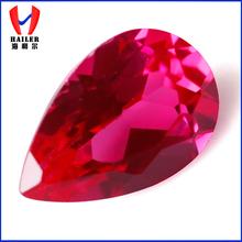 superior calidad de pera corte facetas gemas ruby cuentas