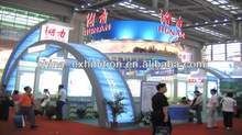 Customized exhibition free standing photo booth