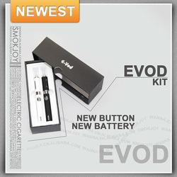 EVOD-MT4 electronic cigarette cost and adjustable voltage EVOD battery 1100mah