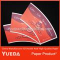 Novo design do sanduíche de papel de embalagem para natural, com tamanhos diferentes