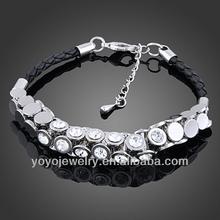 Wholesale handmade leather 2012 fashion real leather bracelets