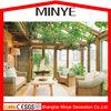 made in china shanghai aluminum sun room/ sunroom / glass house/ winter garden/greenhouse