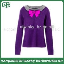 ผู้หญิงอินเทรนด์ตลอดคอกุทัณฑ์เช่นถักเสื้อกันหนาวสำหรับผู้หญิง