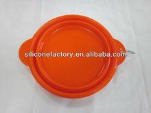 FDA&LFGB 100%food grade silicone foldable pet bowl