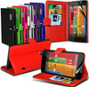 Leather Wallet Stand Flip Skin Case Cover Retractable Pen For Moto G Made In China