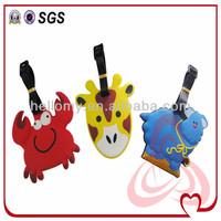 Animal Shaped Custom Standard Size Pvc Luggage Tag