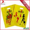 Durable quality ldpe handle yellow shopping bag