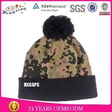Wholesale Beanie Hat Woven Label 100% Acrylic Warm Custom Men Winter Cap