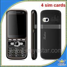 4 sim card handphone, C8 shenzhen mobile phone
