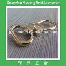 Fashion hot selling light gold metal bag hook key ring