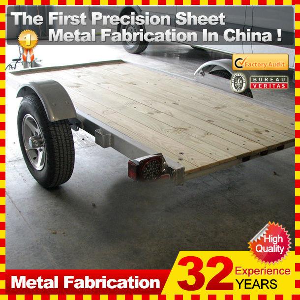 small galvanized motorcycle cargo trailer
