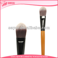 2013 best yellow handle synthetic hair makeup foundation brush