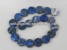 vendita calda 25mm moneta forma lapislazzuli pietra grezza