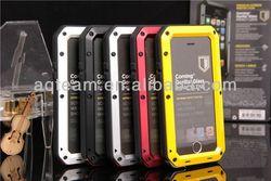 Metal Aluminum Shockproof Gorilla Glass Waterproof Case for IPhone 5S