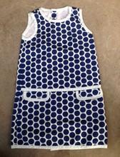GIRL'S 100% COTTON WOVEN SPOT DRESSES--KF5570