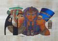 Papiro egiziano dipinti, tut, nefertiti, Cleopatra
