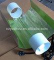 """Enfriar el tubo reflector 5"""" 6"""" 8"""" hydoponics de aluminio reflector de 400w 1000w hps/mh crece luces de efecto invernadero en/tienda de campaña"""