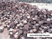 Iran red granite cub stone