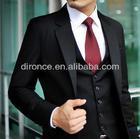 New Arrival Fashion Popular Black Custom Made Coat Pant Men Suit For Wedding 2014
