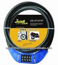 4 Dial Combination Retractable Cable Lock YF20816