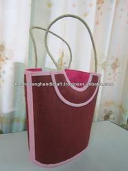 2013 latest design bag women, bag made from jute material