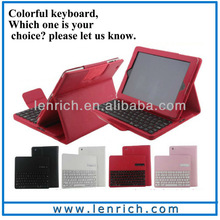 LBK157 Newest Removable Detachable Bluetooth Keyboard Leather Case For iPad Air