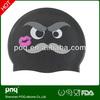 Custom wim aps Service Fashional Design Funny Silicone Swimming Cap