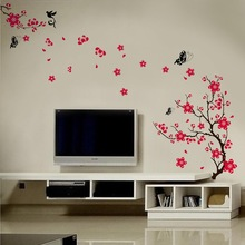 Blossom Flowers Tree Wall Stickers Mural art Decal Self Adhesive Decor Butterfly