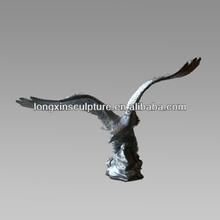 Life-size Casting Interior Decorative Bronze Eagle Figurine Desktop Sculpture--Bronze Animal Sculpture