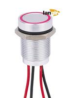 16mm Aluminum Ring illum. Piezo Switch