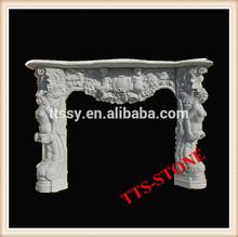 Italian stone fireplace mantel