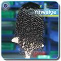 Venta al por mayor sin procesar virginal sin procesar india rizada del pelo de la peluca