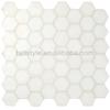 white hexagon Iridescent Glass Mosaic(ig3)