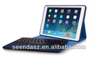 Seenda hot selling 2014 bluetooth keyboard for ipad air with Leather Case