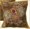 Indian handmade beaded decorative cushion cover for room decor