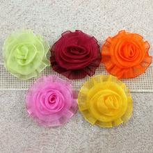 1-554 Wholesale organza flowers artificial flower ornament for dress