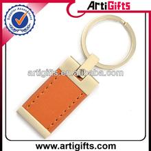 Cheap blank leather keychain keyring