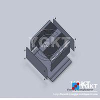 Beautiful Black Aluminum Extrusion Shell 204*48-random
