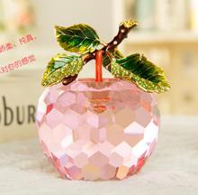 Hot sale crystal apple Christmas gift
