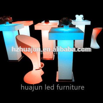 glass top rectangular bar table led bar table outdoor bar table