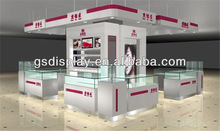2013 Creative Wooden Glass Jewelry Counter Display