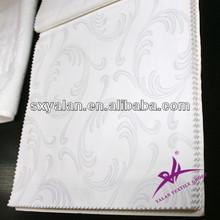Hotel white 100% cotton sateen bedding fabric
