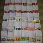 cotton printed wholesales white tea towels