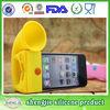 Euro-Pop mobile phone silicone loudspeaker,wireless silicone loudspeaker,horn stand silicone loudspeaker