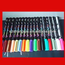 MADE IN CHINA Alibaba 2014New Desktop Fluorescent Marker Pen Led Writing Board Window Marker Pen