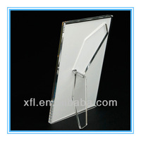 acrylic picture frame + with footholder+ family design+ top quality