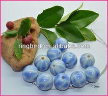 China suppliers Imitation porcelain 15mm beads for handcraft bracelets necklaces
