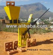 Manual press brick machine Mecamig interlocking brick