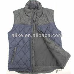 Mens cheap stylish padding fishing leather winter warm vest